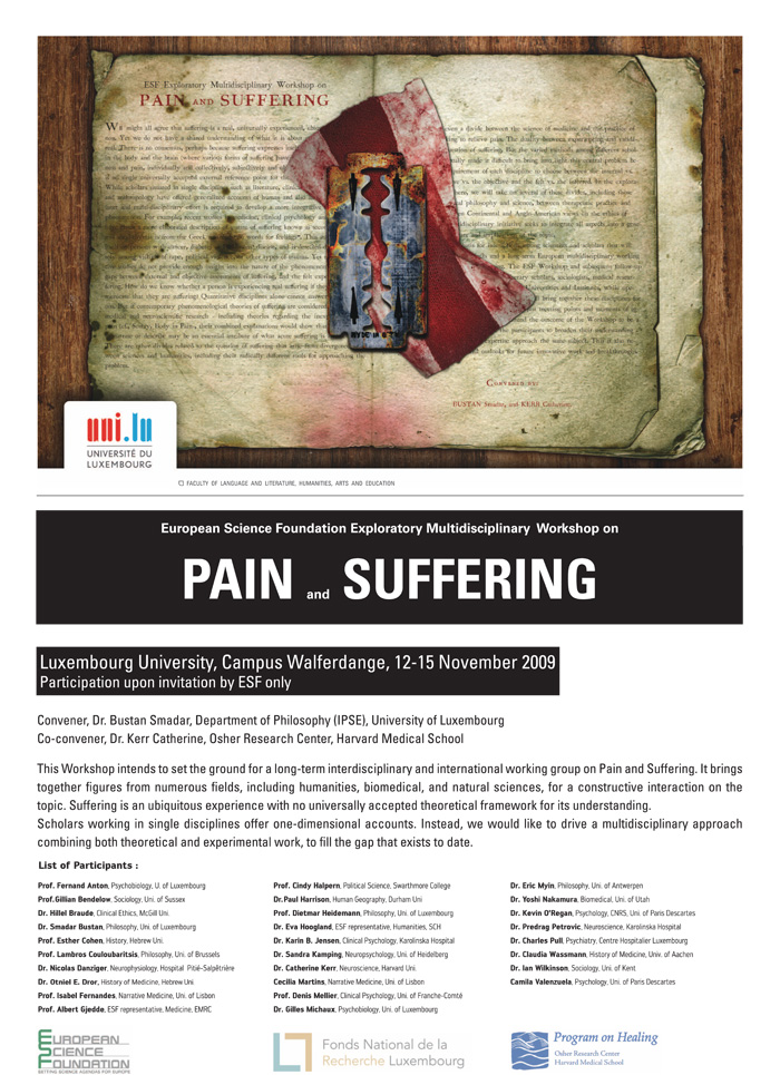Pain and suffering 2009- Dr. Smadar Bustan